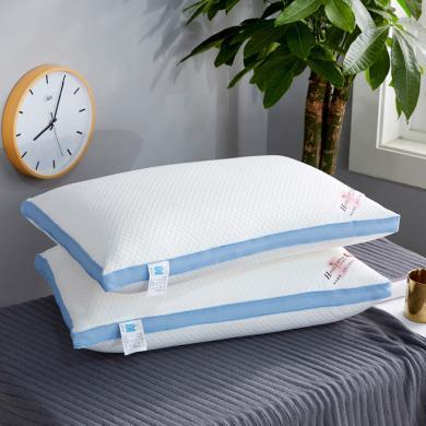 VIPLIFE枕芯 蓝边整张棉热熔枕头-高端亲肤款