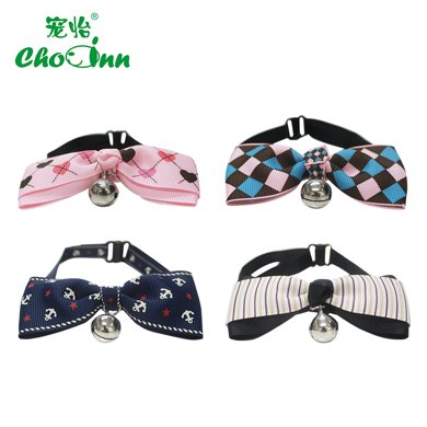 狗狗貓咪帶鈴鐺領結可調節 蝴蝶結寵物項圈頸圈飾品 寵物鈴鐺領帶
