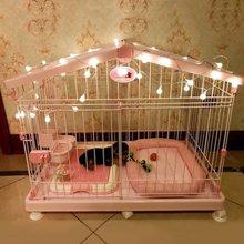 爱丽丝狗笼爱丽思狗笼子中小型犬泰迪带厕所猫笼宠物室内狗狗比熊 日本理念 两侧天窗可打开
