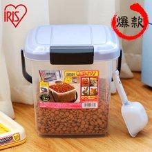 爱丽思IRIS 宠物用防潮 猫狗粮储粮桶密封干粮存储器收纳桶爱丽丝 4L储粮桶 符合多犬类使用