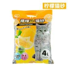 爱丽思IRIS 柠檬蜜桃清香低粉尘膨润土猫砂TYP-4L 带香味猫砂