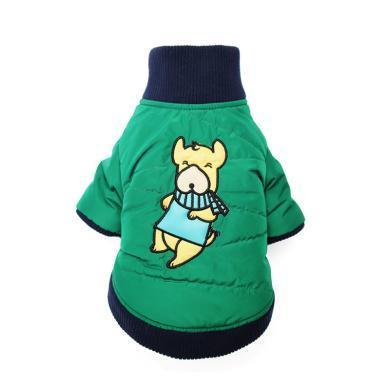 高亞 秋冬新款加厚兩腳寵物衣服棉衣泰迪吉娃娃貓衣服