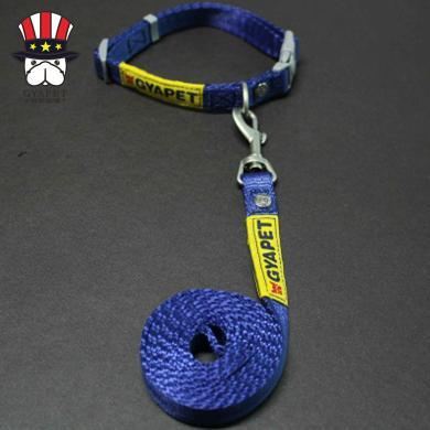 GYAPET 狗牽引繩胸背帶項圈套裝金毛狗鏈中大型狗繩寵物用品