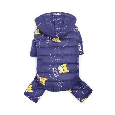 韓版冬裝寵物用品四腿衣服中小型貓狗防風帽子保暖卡通外套