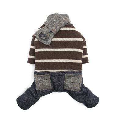 GYAPET 秋冬新款宠物毛衣雪纳瑞法斗比熊围巾四脚衣宠物衣服
