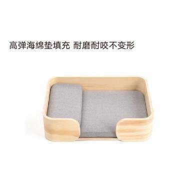 pidan猫床 木制方框猫窝狗窝四季通用宠物窝实木小型犬猫床宠物床