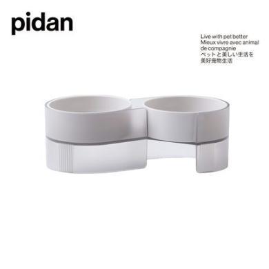 pidan貓碗雙碗 貓碗套裝帶架子傾斜貓食盆貓水碗吃飯喝水的碗