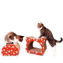得酷 猫抓板猫头形瓦楞纸猫抓板猫磨爪玩具猫咪宠物用品