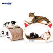 加大版猫抓板加大两件猫头形瓦楞纸猫抓板猫磨爪猫咪玩具专利产品