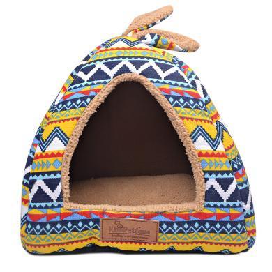 Kimpets 帐篷窝秋季冬季保暖狗窝 新款蒙古包棉窝猫窝 宠物狗狗兔子猫咪窝