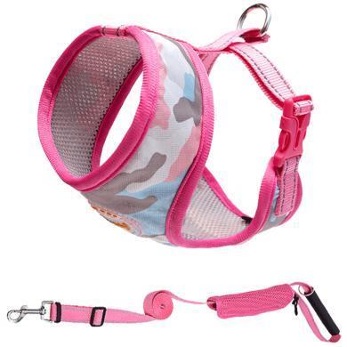 優貝卡 寵物胸背帶背心式狗繩網布反光牽引繩小型犬狗背心泰迪用品