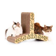 得酷 猫?#20848;躎字形瓦楞纸猫抓板猫磨爪玩具猫咪宠物用品送薄荷
