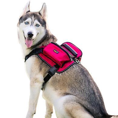 优贝卡 狗背包自背 宠物狗自背包自驮包大型犬背包多口袋防水