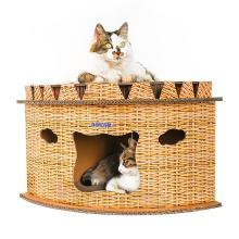 得酷 猫抓板定制猫窝转角扇形猫屋猫抓板猫磨爪玩具创意猫窝