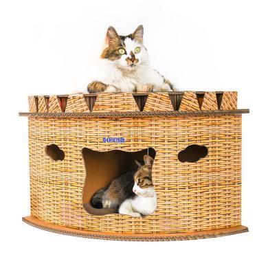 得酷 猫抓板定制猫窝转?#24039;刃蚊?#23627;猫抓板猫磨爪玩具创意猫窝