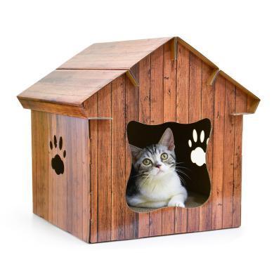 得酷 DIY房子室內用品磨抓器瓦楞紙質貓窩貓屋配套貓抓板