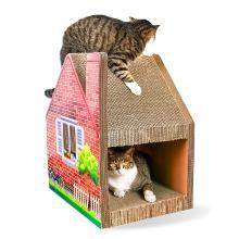 得酷 瓦楞紙貓房子貓窩別墅式貓抓板貓磨爪玩具貓咪寵物用品