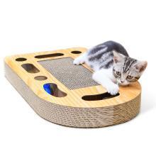 得酷 瓦楞纸带球猫抓板猫磨爪猫玩具送猫薄荷猫咪用品磨爪器