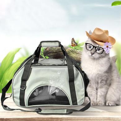 優貝卡 新款春夏外出便攜單肩寵物包 時尚貓咪手拎包寵物日用品