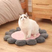 Kimpets 新款圓形花朵寵物墊子狗毯子長毛絨地毯狗坐墊狗狗貓咪睡覺墊子