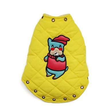 ?#39277;?#34915;服泰迪马甲秋冬装比熊雪纳瑞小狗猫咪加厚背心宠物两脚棉衣