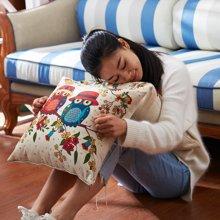 芒更家纺 时尚北欧卡通亚麻风抱枕/靠垫(含芯)