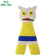宠怡彩色猫形猫抓板 天然剑麻 宠物猫玩具 猫磨爪玩具 猫咪玩具