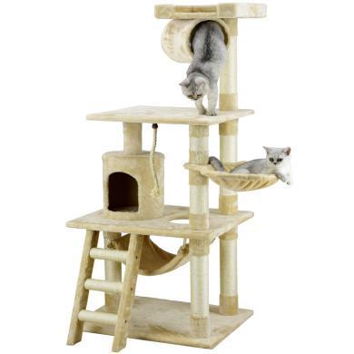 猫爬架猫吊床猫树猫架猫吊床一体别墅大型猫塔爬柱猫咪爬架多层跳台用品工厂预订1月交货