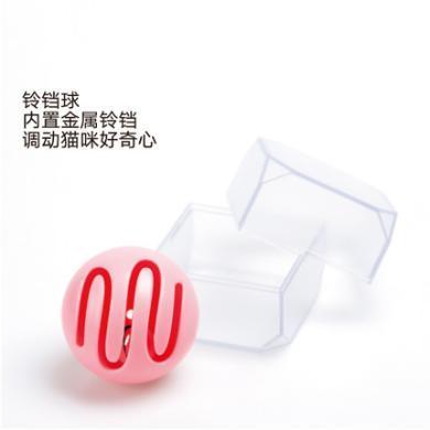 pidan猫咪玩具球粉色铃铛发光玩具宠物玩具球宠物用品猫咪玩具