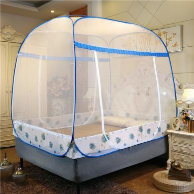 【買就送枕芯一對】羽芯家紡 大頂加密免安裝蒙古包蚊帳