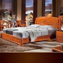 皇家爱慕 橡木床双人床 实木家具中式家具婚床双人