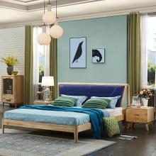 皇家爱慕北欧实木床现代简约主卧室新婚床1.8米双人白蜡木床