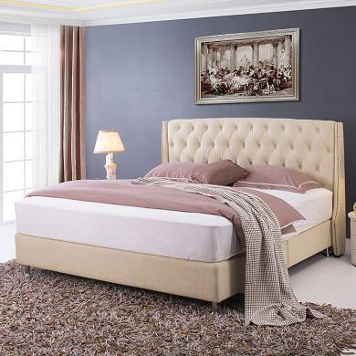 皇家愛慕現代簡約布藝軟床 雙人床 美式婚床