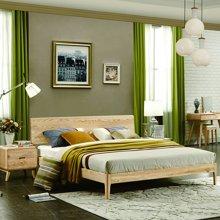 皇家爱慕北欧实木床双人床1.5米1.8米m白蜡木床 全实木主卧家具