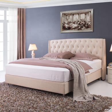 皇家愛慕簡約現代床 真皮/皮藝床 時尚雙人軟床 排骨架/木質床