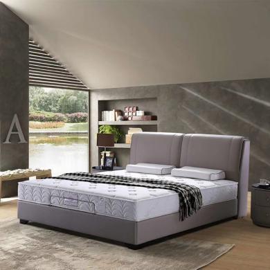 HJMM簡約皮床皮藝大床1.8米雙人床真皮床小戶型主臥室頭層牛皮婚床
