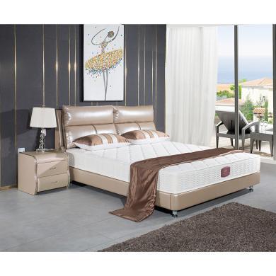 皇家愛慕皮床雙人床 軟床 皮藝床現代簡約1.8*2米