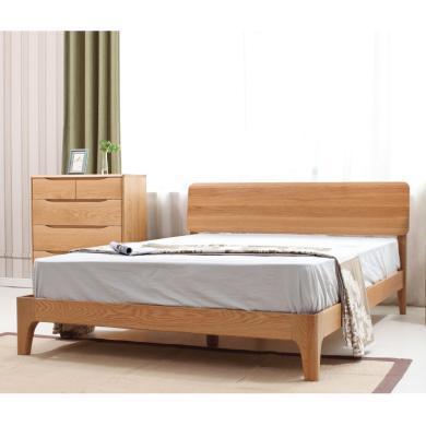 HJMM实木床橡木双人床环保卧室家具北欧现代简约