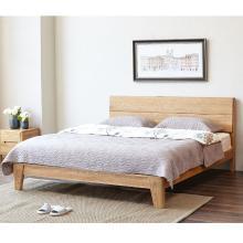 HJMM纯?#30340;?#36827;口橡木双人床简约现代环保卧室家具