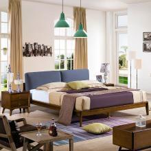 HJMM實木床1.5米1.8米簡約北歐白蠟木床臥室雙人床