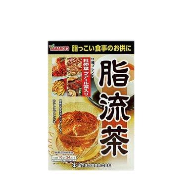 1盒*日本山本漢方脂流茶 大麥若葉青汁搭檔 進口保健品 24包【香港直郵】