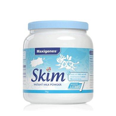 澳洲進口美可卓藍胖子脫脂奶粉人學生早餐 高鈣牛奶粉沖飲1kg