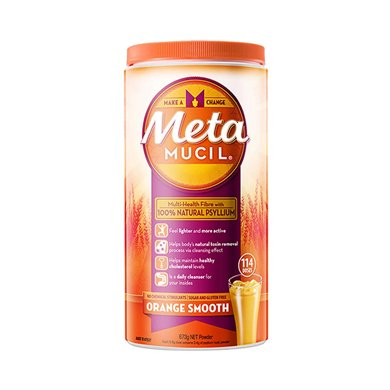 1瓶*澳洲Metamucil美达施膳食纤维粉114次香橙口味673克【香港直邮】