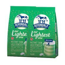 【支持购物卡】2袋装 澳洲德运Devondale高钙脱脂中老年人学生牛奶粉1kg