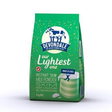 【支持購物卡】澳洲德運Devondale高鈣脫脂中老年人學生牛奶粉1kg 香港直郵
