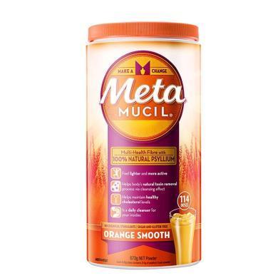 【支持購物卡】美國Metamucil美達施膳食纖維粉香橙幼滑口味 114次 澳洲直郵