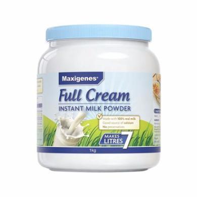 【支持购物卡】澳洲Maxigenes美可卓 蓝胖子成人全脂奶粉 1000g/罐 学生奶粉 营养牛奶 香港直邮