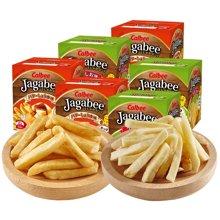 日本进口calbee卡乐比薯条薯条三兄弟咸味黄油酱油味 18克*5包*6盒