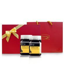 comvita康维他多花种蜂蜜500g新西兰原装进口纯净天然成熟蜜瓶装*2瓶年货送礼礼盒装