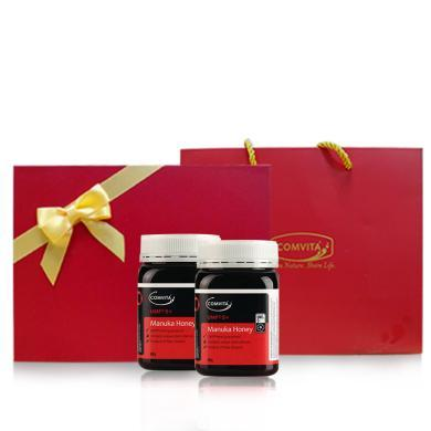 comvita康維他UMF5+麥盧卡蜂蜜500g新西蘭原裝進口純凈天然蜜*2瓶禮盒裝